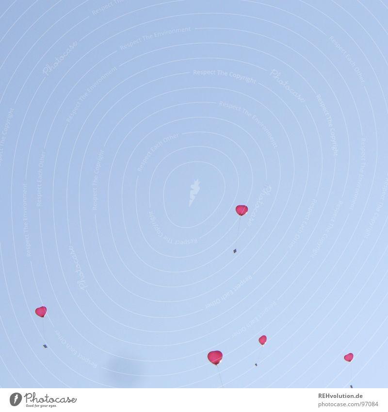 Sky Blue Vacation & Travel Summer Love Graffiti Air Flying Heart Balloon Romance Snapshot Hover Go up Heavenly Tears