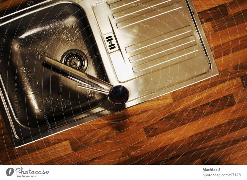 Water Nutrition Wood Warmth Wet Kitchen Clean Physics Pure Refreshment Flow Parquet floor Drainage Bleak Tin Aluminium