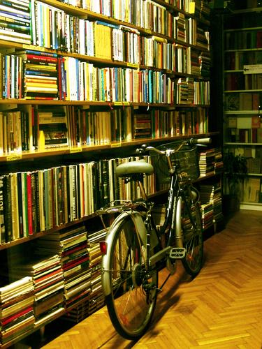 Loneliness Bicycle Book Transport Reading Things Store premises Furniture Vehicle Slovenia Ljubljana