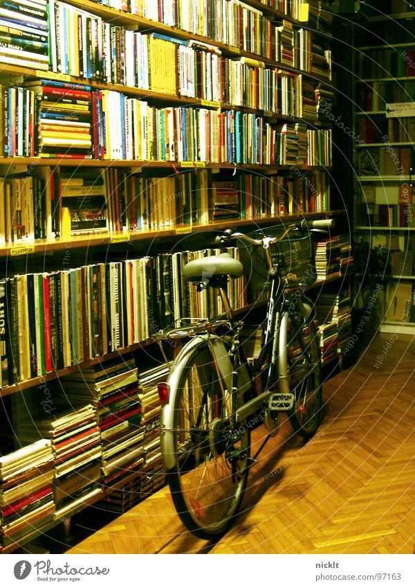 lost bike.. Book Store premises Bicycle Night Slovenia Ljubljana Loneliness Reading Things Vehicle Furniture Transport Evening