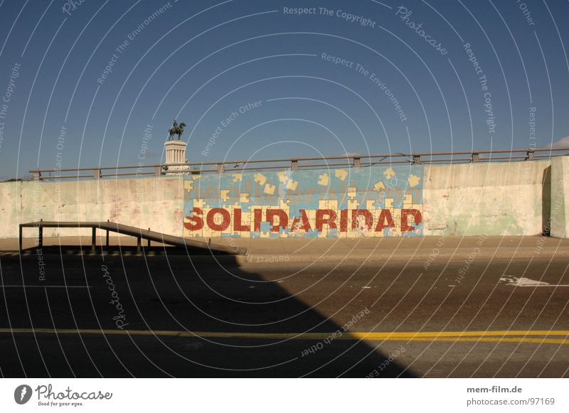 solidaridad International Socialism Globalization SPD Left Peace Cuba Communism Wall (building) Mural painting Havana El Malecón Nostalgia Soviet Union Moral