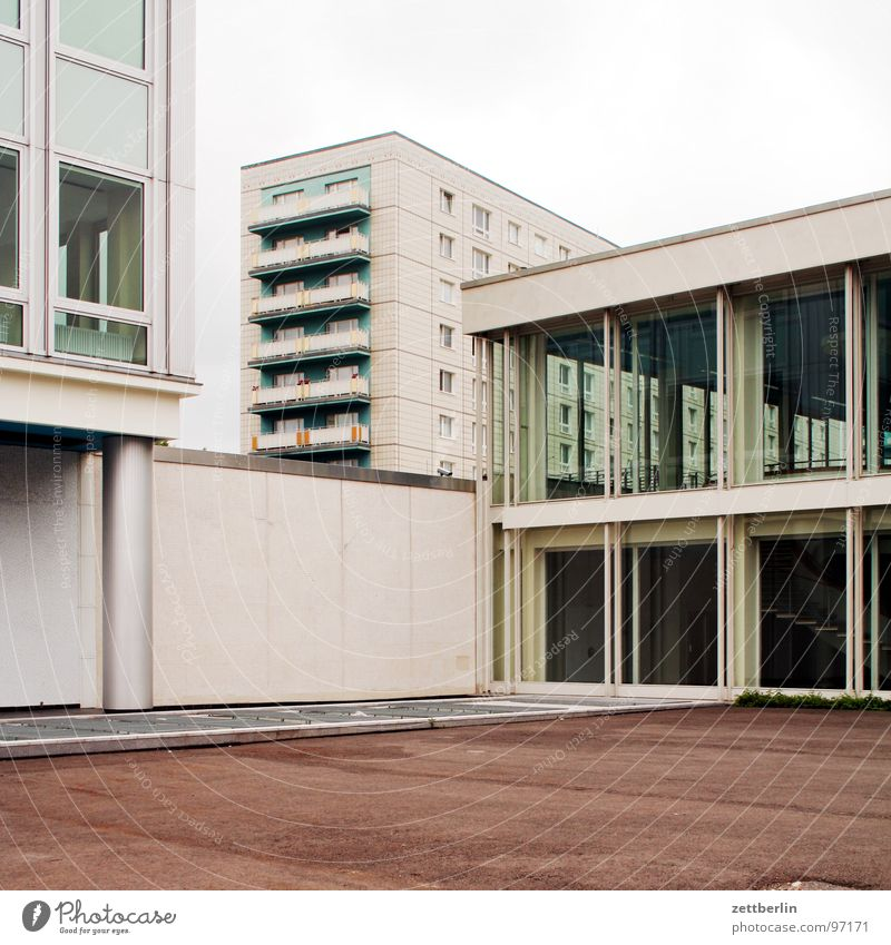 Real existing architecture Karl-Marx-Allee Alexanderplatz Middle House (Residential Structure) Facade Window Balcony Deserted Preservation of historic sites