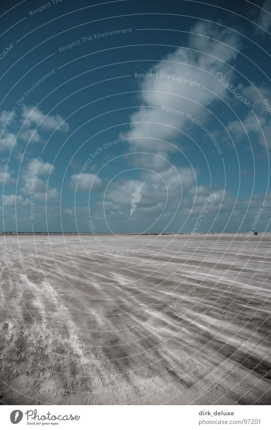 Sky Blue White Beach Clouds Sand Wind Europe Beige Denmark