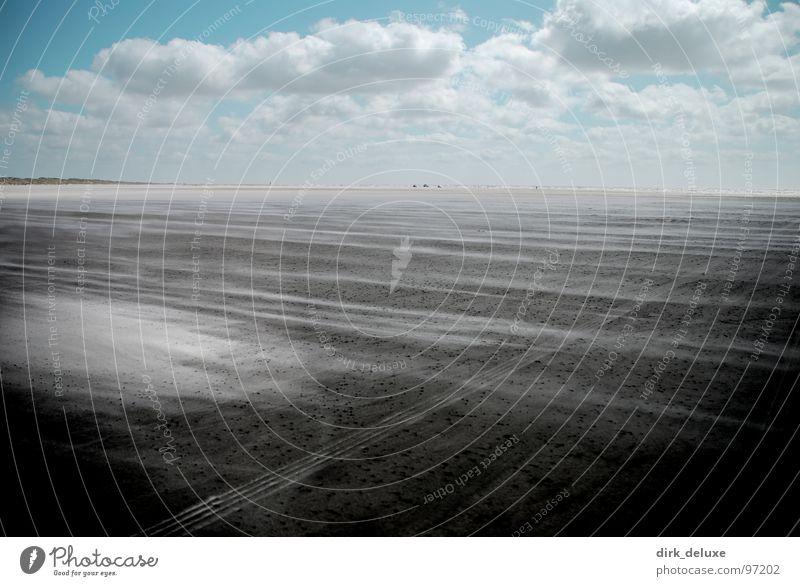 beach denmark II Beach Denmark Sky Clouds White Beige Europe blue Sand Wind desaturation