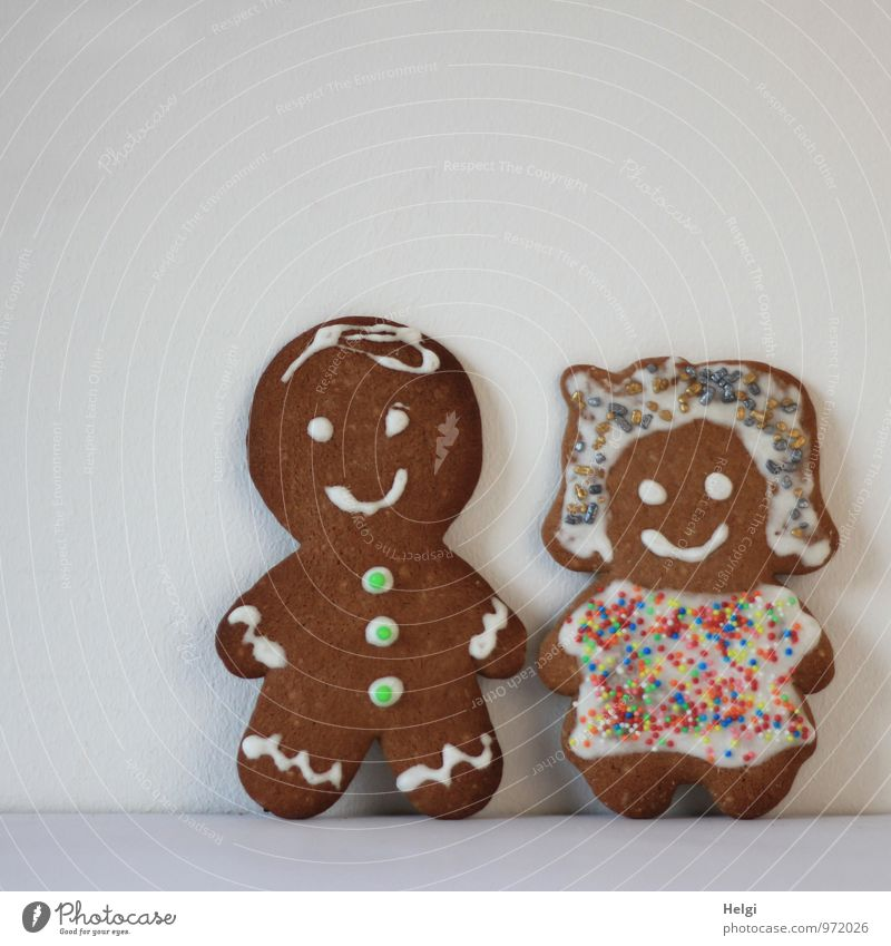 couple's Food Dough Baked goods Candy Gingerbread Nutrition Feasts & Celebrations Wedding Woman Adults Man Couple 2 Human being Decoration Figure Smiling Stand