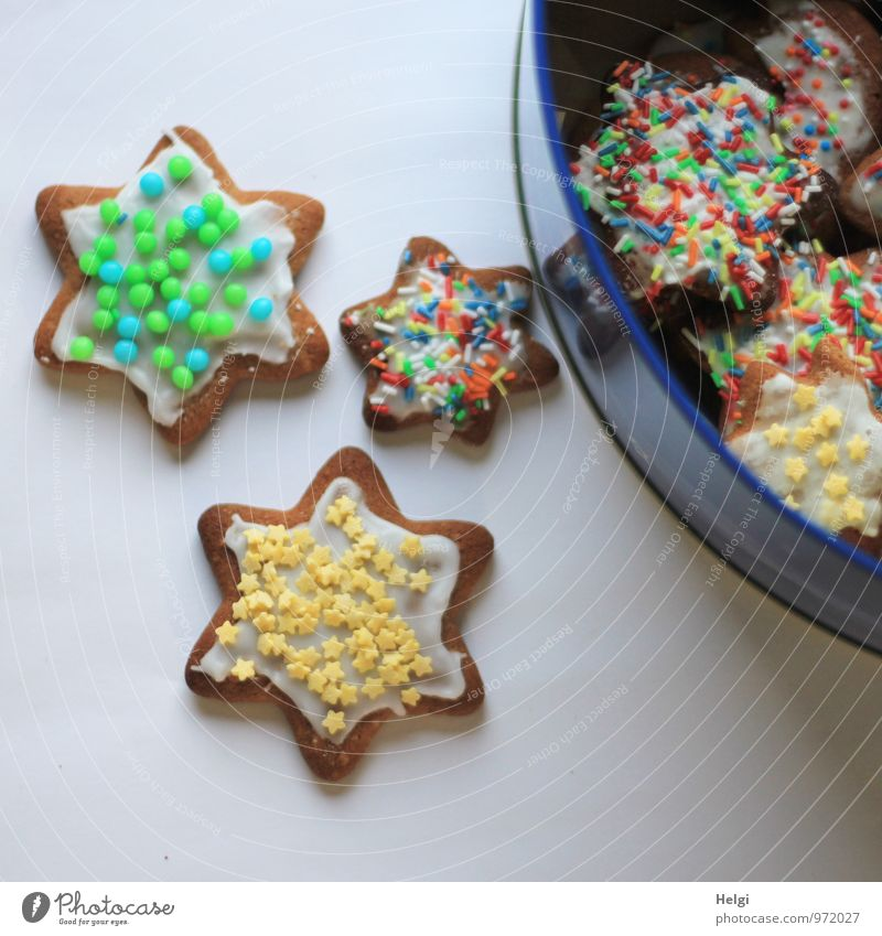 stocky Food Dough Baked goods Candy Cookie Star (Symbol) Granules Nutrition Christmas & Advent Tin Metal Lie Esthetic Fragrance Fresh Beautiful Uniqueness