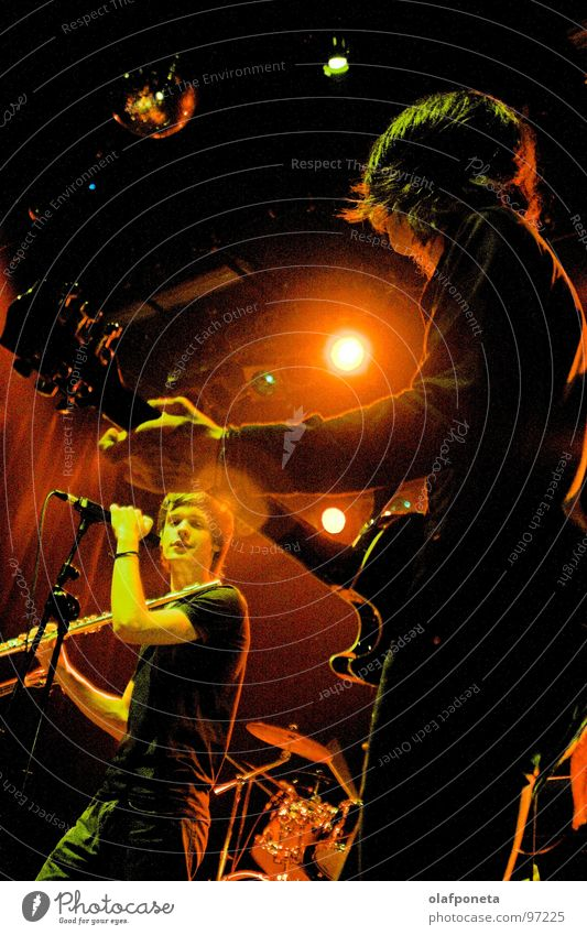 Red Yellow Playing Moody Music Orange Multiple Cable Shows String Concert Rock music Guitar Boots Microphone Floodlight