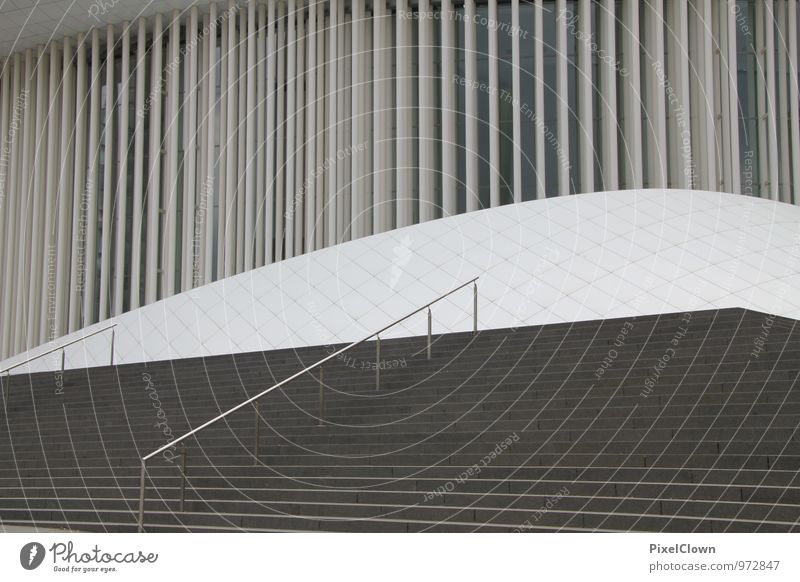 Clear lines Lifestyle Art Architecture Theatre Culture Stage Opera Opera house Downtown Manmade structures Building Stone Steel Exceptional Town Black White
