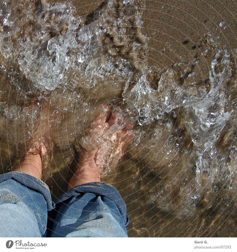 Water Vacation & Travel Ocean Summer Beach Joy Cold Playing Sand Legs Feet Healthy Waves Wet Fresh Cool (slang)