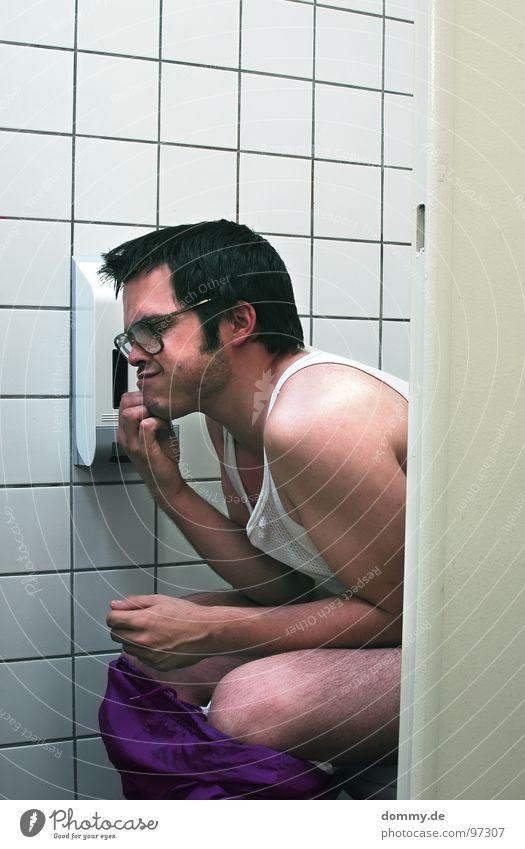 Man Joy Think Open Sit Empty Paper Violet Tile Toilet Shirt Stupid Antlers Bowl Jogging Fellow