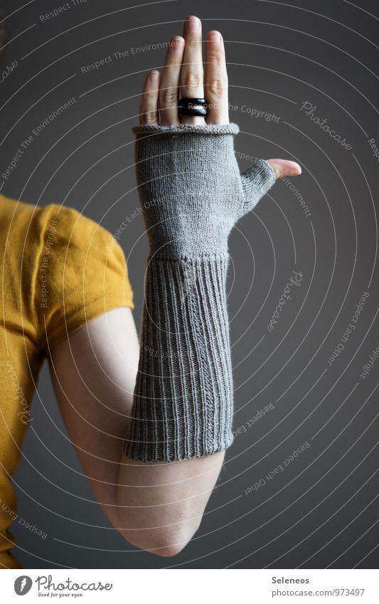 Human being Hand Winter Warmth Autumn Arm Fingers Soft Gloves