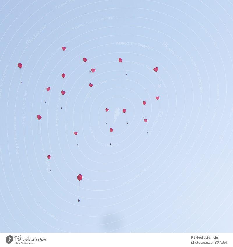 Sky Blue Vacation & Travel Joy Graffiti Air Flying Heart Multiple Balloon Many Romance Snapshot Hover Go up Heavenly