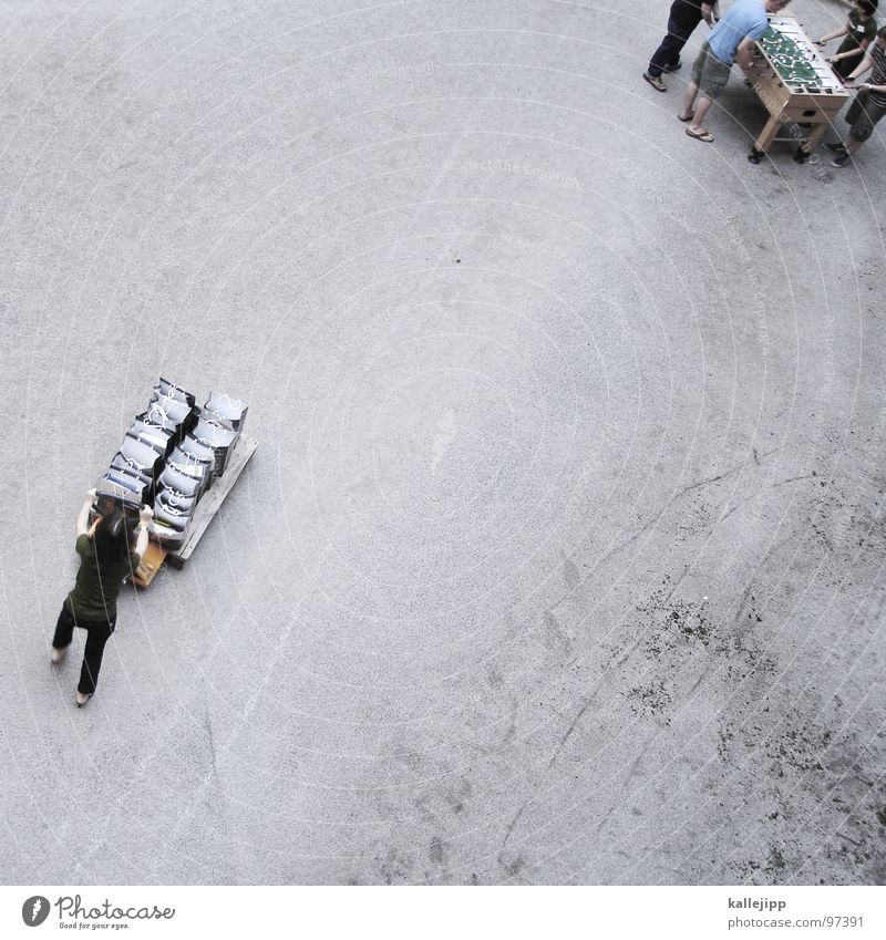 replenishment Cart Push Logistics Table soccer Gravel Congress Bird's-eye view Under Work and employment Human being containers thrust Tread Farm Above Earth