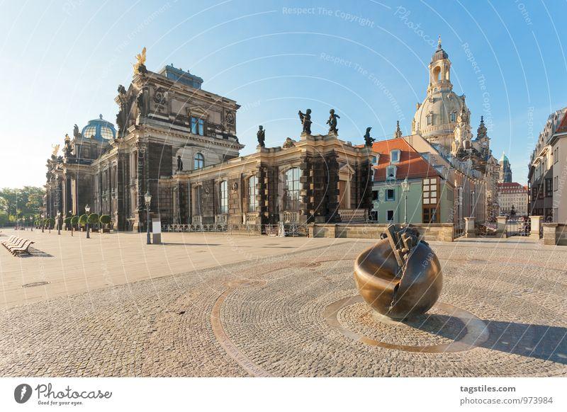BRÜHL TERRACE Dresden Saxony Germany Frauenkirche Albertinum Monument Brühlsche Terrasse Terrace Vacation & Travel Travel photography Idyll Card Tourism Sunbeam