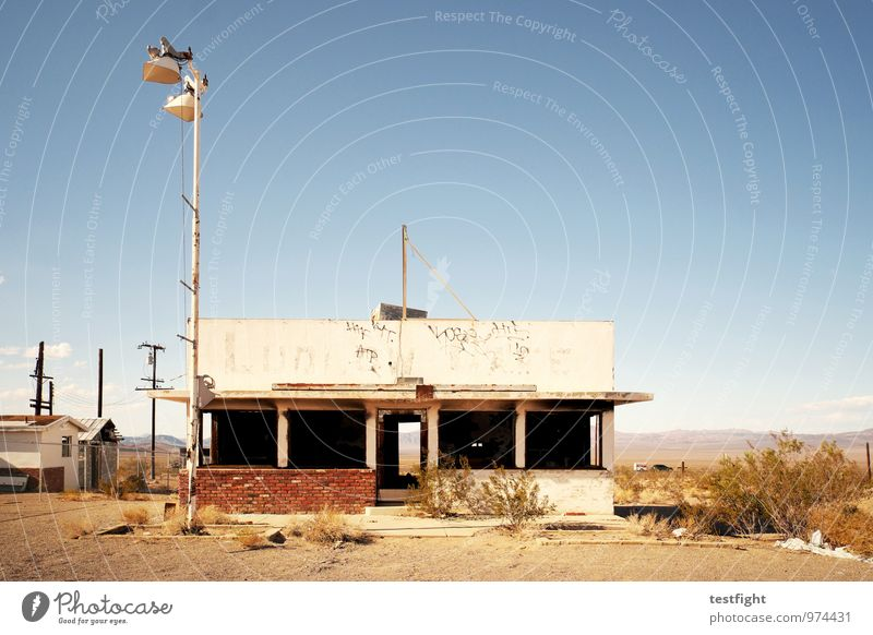 abandoned homes Deserted Manmade structures Building Architecture Decline Past Transience Old Going Loneliness Destruction USA Route 66 Warmth Sun Hot Broken