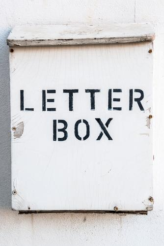 Searched, found Wood Characters Signs and labeling Design Identity Surprise Mailbox Letter (Mail) Contact Accounts Information Agent Subdued colour