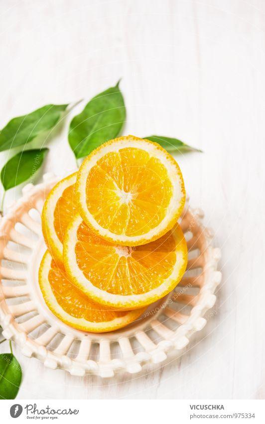Cut oranges with leaves in white bowl Food Vegetable Orange Nutrition Breakfast Organic produce Vegetarian diet Diet Juice Bowl Style Design Healthy Eating