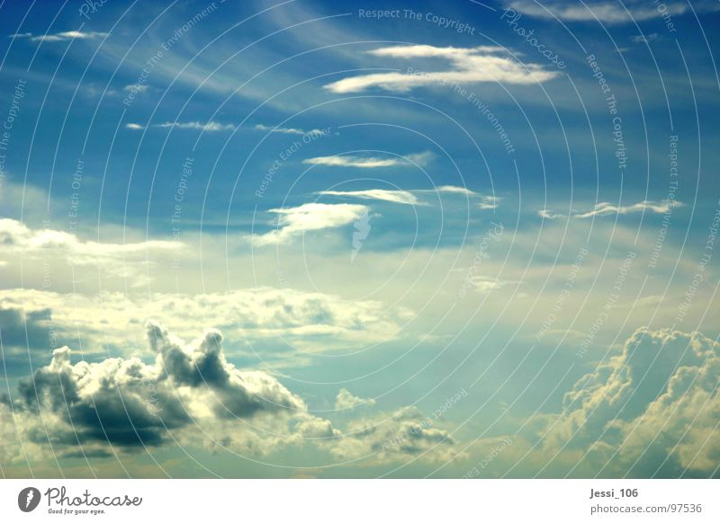 Sky Blue Clouds Freedom Weather Flying Horizon