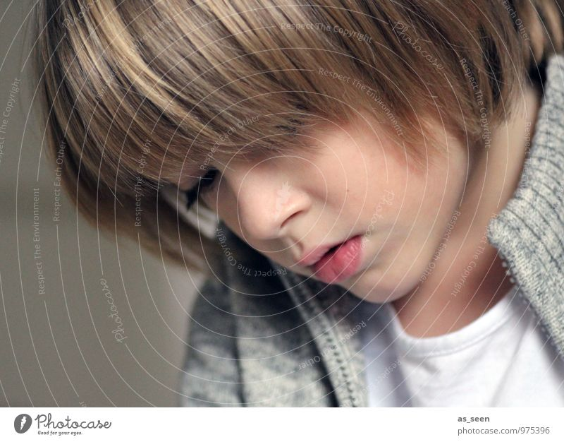 Child Youth (Young adults) Face Life Boy (child) Gray Brown School Family & Relations Modern Authentic Blonde Infancy Creativity Study Reading