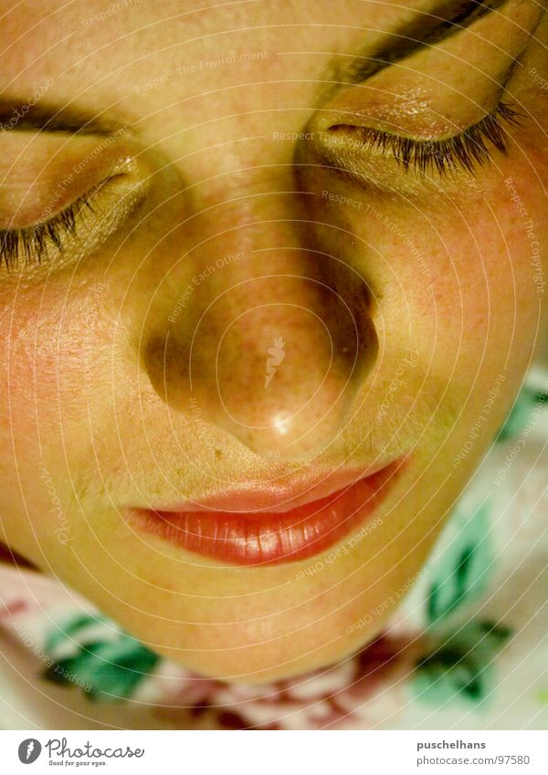Dream on Sleep Pattern Near Woman Grief Relaxation Macro (Extreme close-up) Close-up Bedroom Eyes Mouth Face Skin Human being Sadness