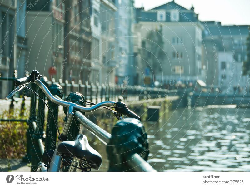 Belgian bikes River bank Town Downtown Old town House (Residential Structure) Bridge Manmade structures Building Means of transport Street Bicycle Beautiful
