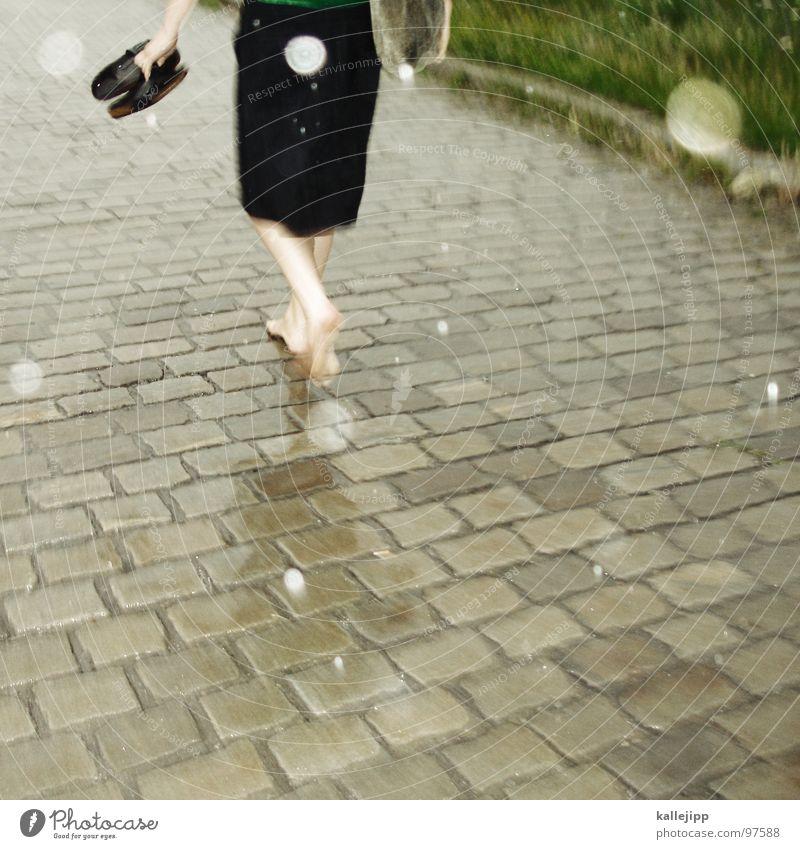 Woman Beautiful Flower Green City Summer Feminine Grass Rain Footwear Field Going Walking Clothing Running Bottom