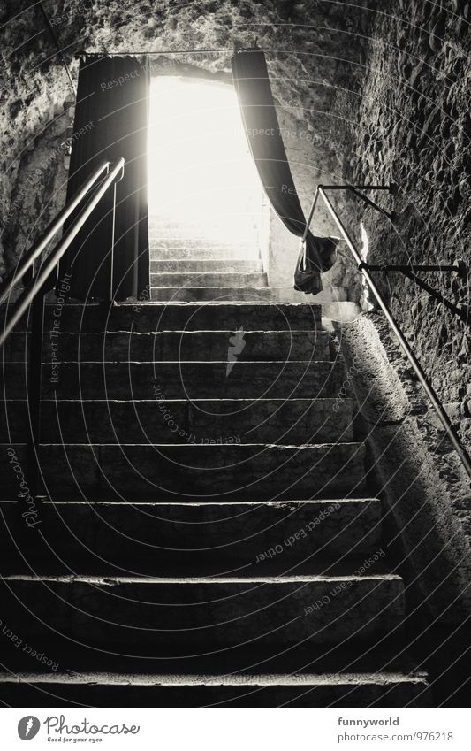 Wall (building) Wall (barrier) Bright Above Dream Fear Stairs Beginning Hope Mysterious Longing Under Drape Stage Vault Glistening