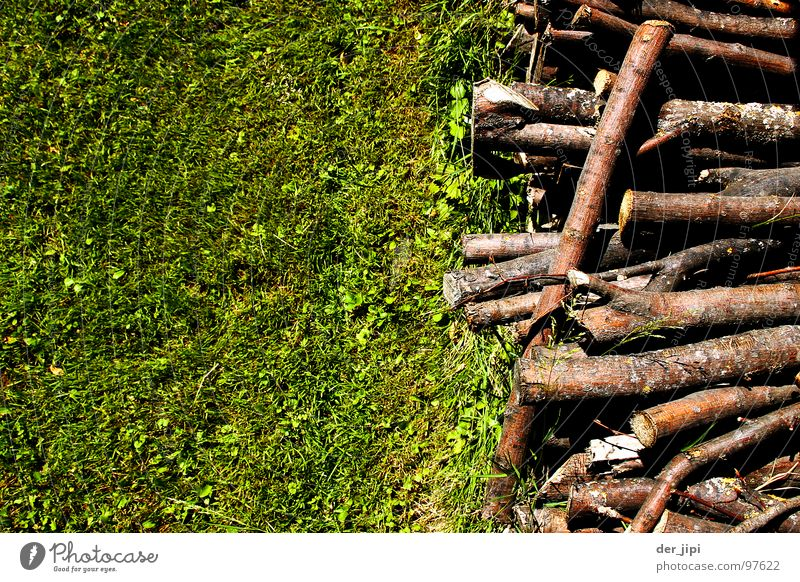 Tree Green Meadow Grass Wood Warmth Brown Blaze Lie Physics Hot Hut Row Edge Stack Muddled