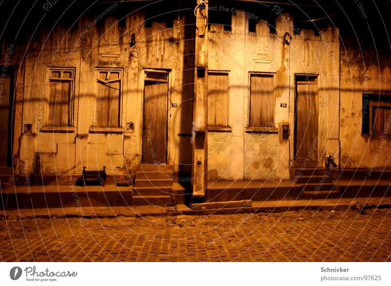 Loneliness Street Dark Window Arm Door Simple Village Mysterious Brazil South America
