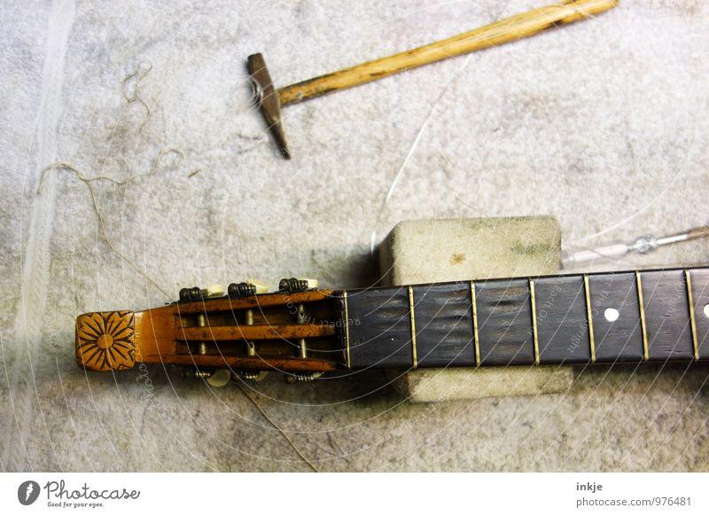 mandolin Work and employment Profession Craftsperson Instrument making Workshop Craft (trade) Tool Hammer Musical instrument Lute Mandolin Old Brown Repair