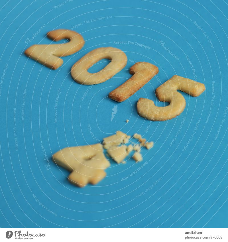 nibbled on Dough Baked goods Christmas biscuit Cookie Nutrition Eating To have a coffee Banquet Healthy Eating Feasts & Celebrations New Year's Eve