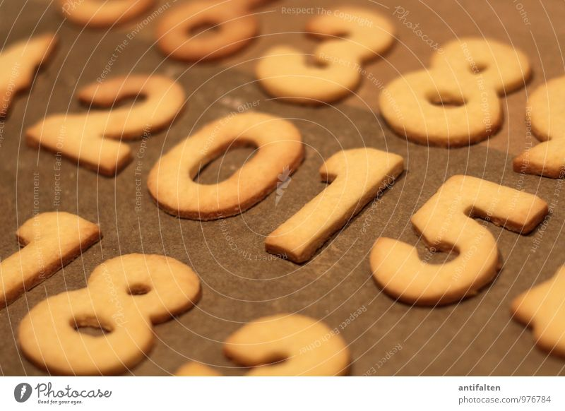 MAKING OF Dough Baked goods Cookie Christmas biscuit Nutrition To have a coffee New Year's Eve Birthday Digits and numbers Year date 2 0 1 5 3 8 Esthetic Hot