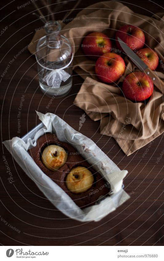 Fruit Nutrition Sweet Delicious Candy Apple Cake Baked goods Dough Chocolate Dessert Slow food To have a coffee Apple pie