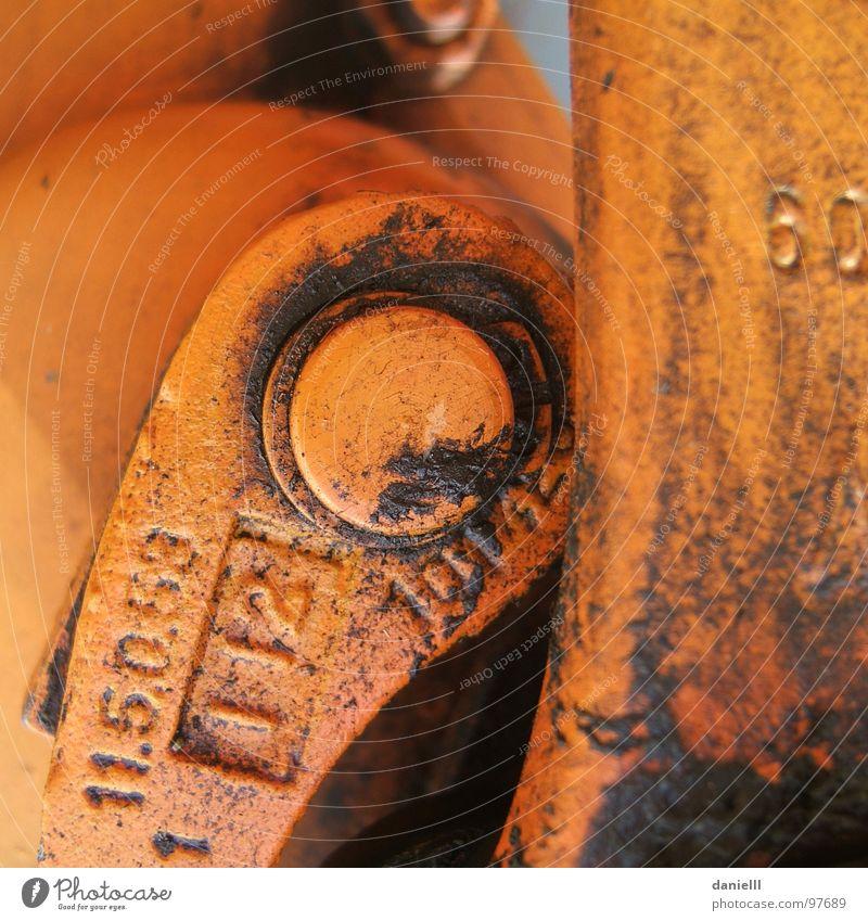 60 Dirty Fat Lever Mechanics Industry Colour Orange smudged Oil Oily Daub