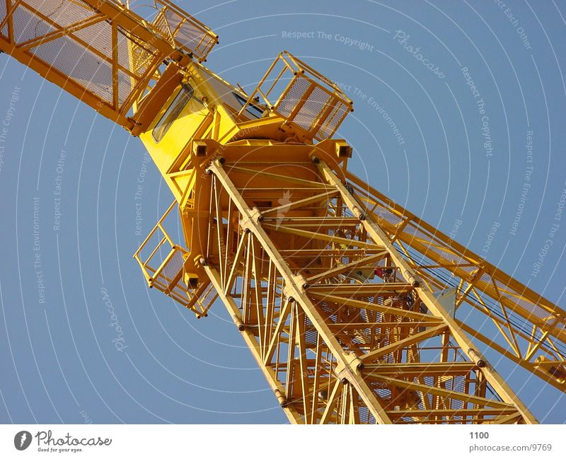 Sky Yellow Technology Construction site Craft (trade) Crane Electrical equipment Construction crane Working equipment