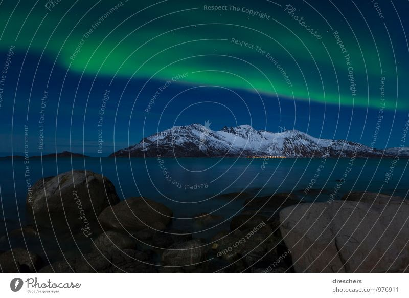 northern lights Vacation & Travel Tourism Adventure Freedom Cruise Ocean Winter Snow Winter vacation Mountain Nature Landscape Elements Sky Night sky Stars