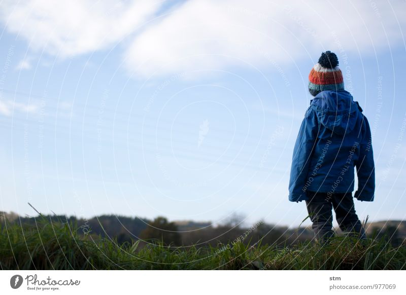 Human being Sky Child Nature Landscape Calm Clouds Environment Life Boy (child) Natural Family & Relations Leisure and hobbies Infancy Beautiful weather Joie de vivre (Vitality)