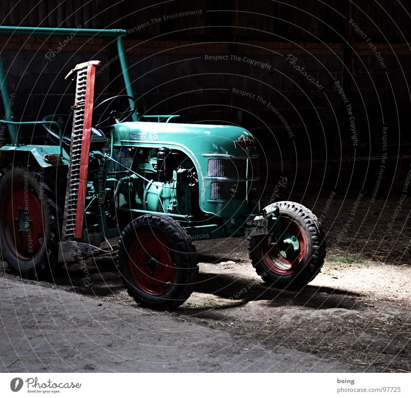 Industry Agriculture Derelict Farm Rotate Machinery Barn Engines Vintage car Courtyard Tractor Hay Car Hood Lawnmower Work and employment