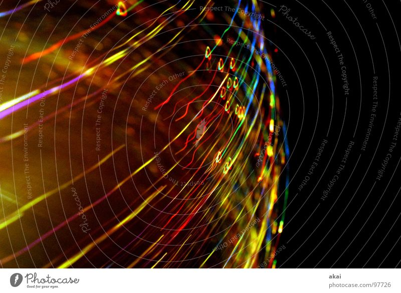 Ufo Lights 9 UFO lamp TV lamp Exposure Visual spectacle Long exposure Experimental Stripe Fiber optics Study or Survey Multicoloured Red Yellow Green Magenta