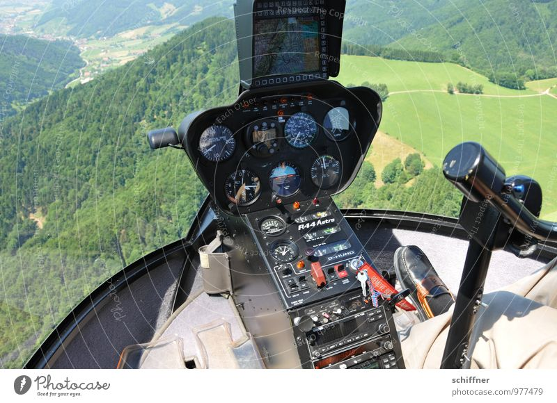 altimeter Feet Environment Nature Landscape Plant Meadow Field Forest Mountain Aviation Helicopter Cockpit Pilot Flying Green Measuring instrument Display
