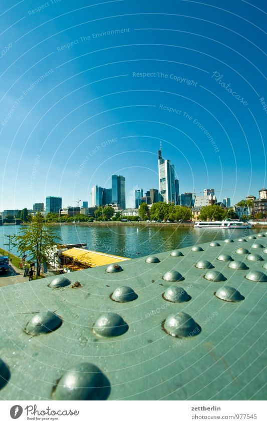 Frankfurt am Main Bank building Financial institution Business Facade Glas facade Town House (Residential Structure) High-rise Perspective Skyline Steep