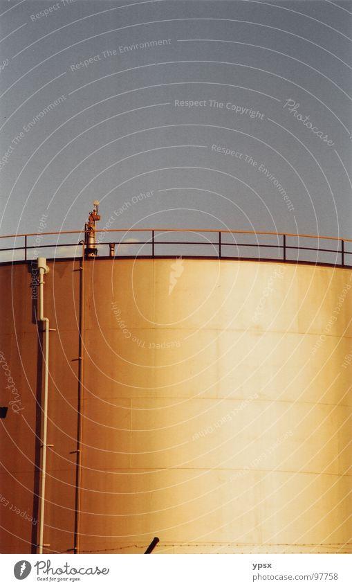 Sky Yellow Gold Industry Stripe Handrail Geometry Australia Silo