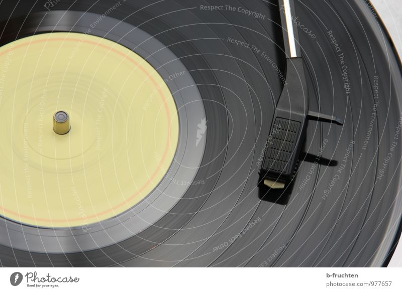Black Music Retro Disc jockey Circle Record Record player Listen to music