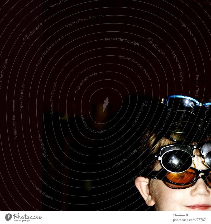Child Boy (child) Laughter Eyeglasses Protection Radiation Sunglasses Humor Untidy