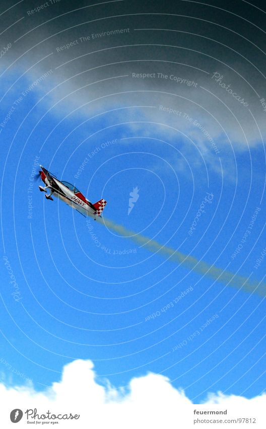 Sky Clouds Sports Dark Playing Freedom Airplane Wind Flying Dangerous Airport Thunder and lightning Loud Airfield Vapor trail Aerobatics