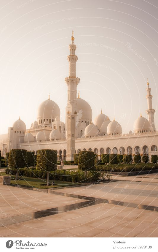 Abu Dhabi III Capital city Manmade structures Building Architecture Tourist Attraction Landmark Monument Exceptional Famousness Fantastic Sheikh Zayid Mosque