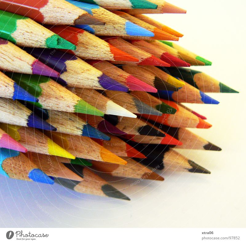 where to paint? Pen Crayon Multicoloured Heap Multiple Together Pointed Wood Rainbow Things Many Draw Painting (action, work) Dart Colour Crazy pencil crayons