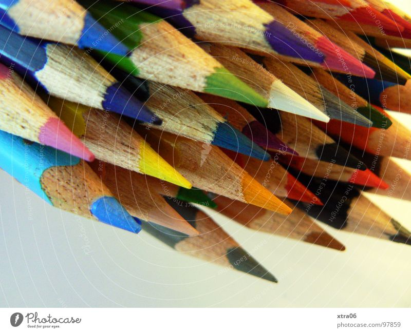 Colour Wood Together Crazy Multiple Point Things Painting (action, work) Many Draw Pen Rainbow Heap Crayon Dart Pointed