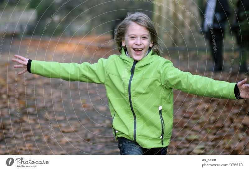 Embracing the world Boy (child) Family & Relations Friendship Infancy Life Arm 1 Human being 3 - 8 years Child 8 - 13 years Autumn Forest Walking Embrace
