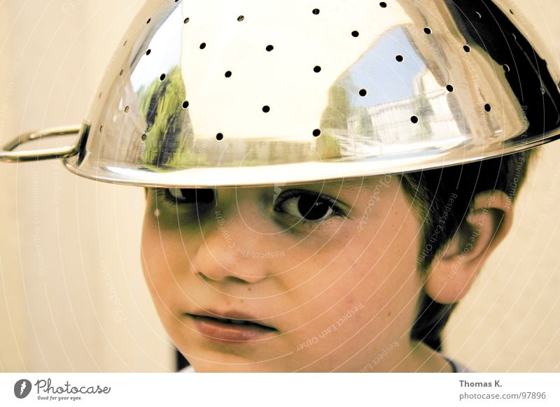 Child Joy Boy (child) Lighting Communicate Hat Humor Helmet Electronic UFO Extraterrestrial being Chrome Mistrust Carry handle Disbelief Magnetic